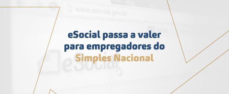 E-social passa a valer para empregadores do Simples Nacional